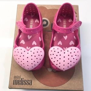 NEW! ⭐️Host Pick⭐️ Mini Melissa Pink Heart Flats💕